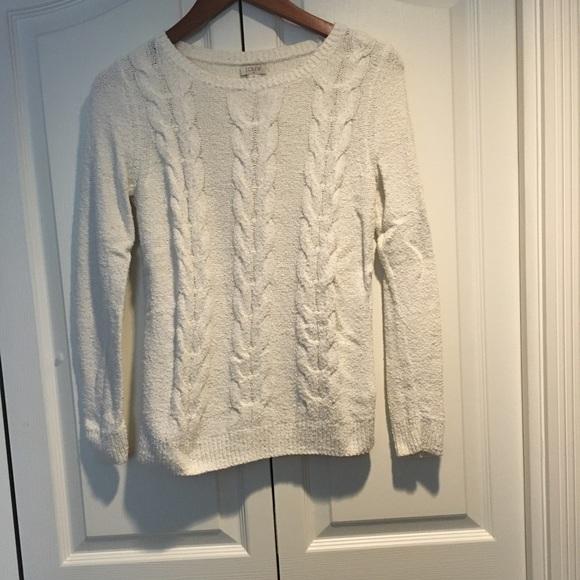 J crew white sweater XS